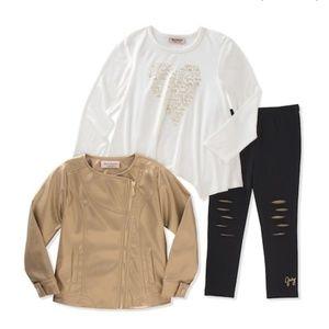 Juicy Couture Moto Jacket & Slash Leggings Set D6